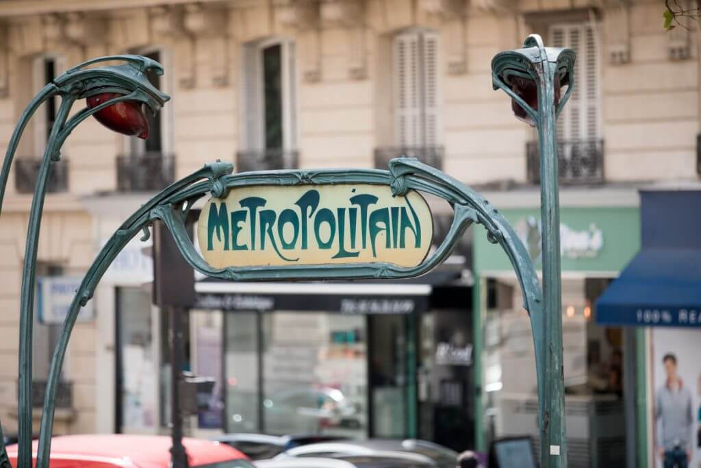 Paris metro art deco entrance