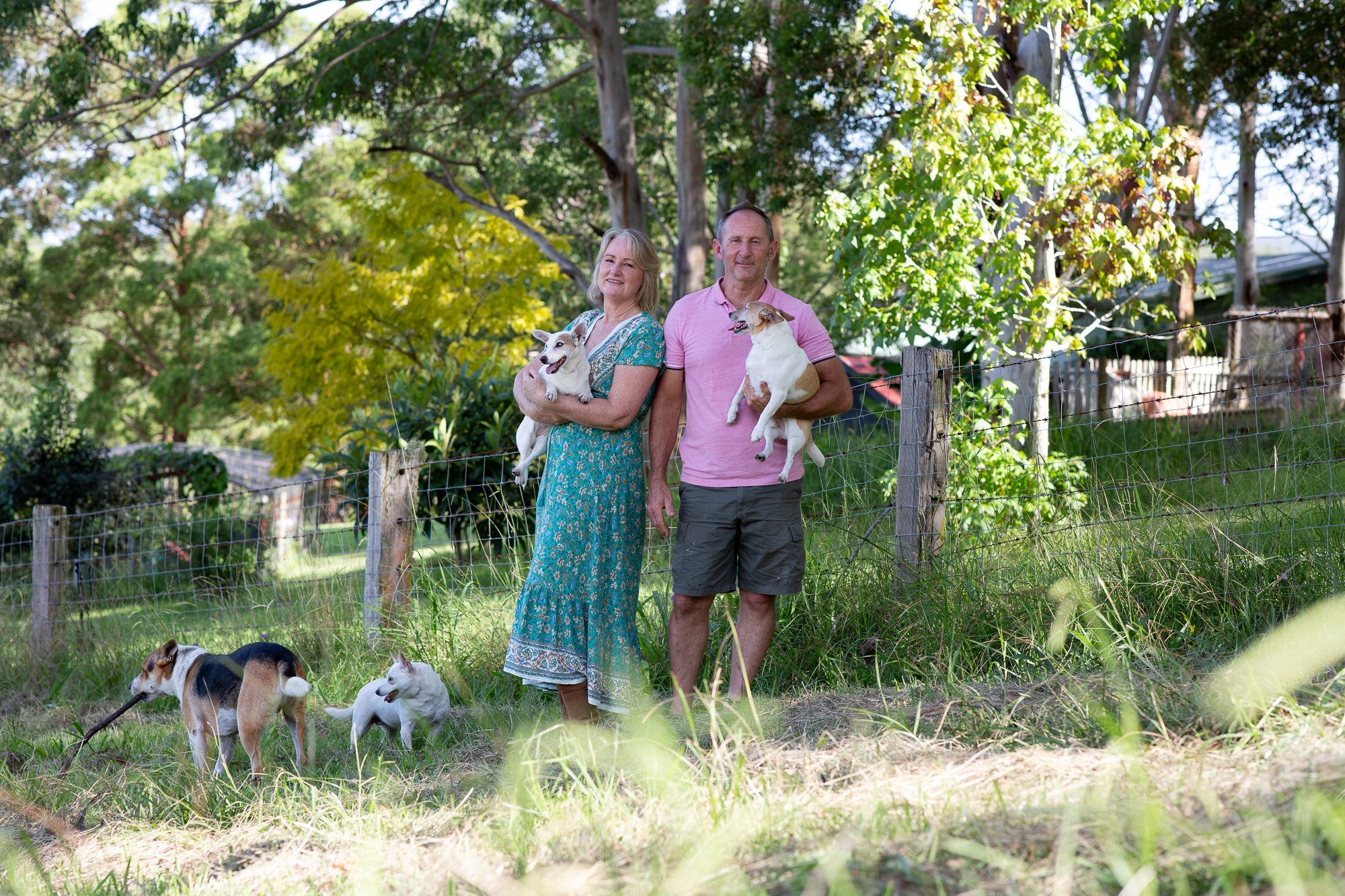 Jo Lyons and her family on the farm