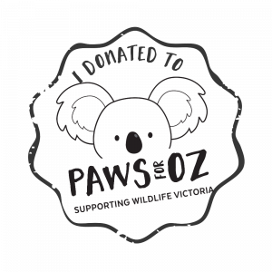 Paws for Oz - Fundraising for Wildlife Victoria Watermark