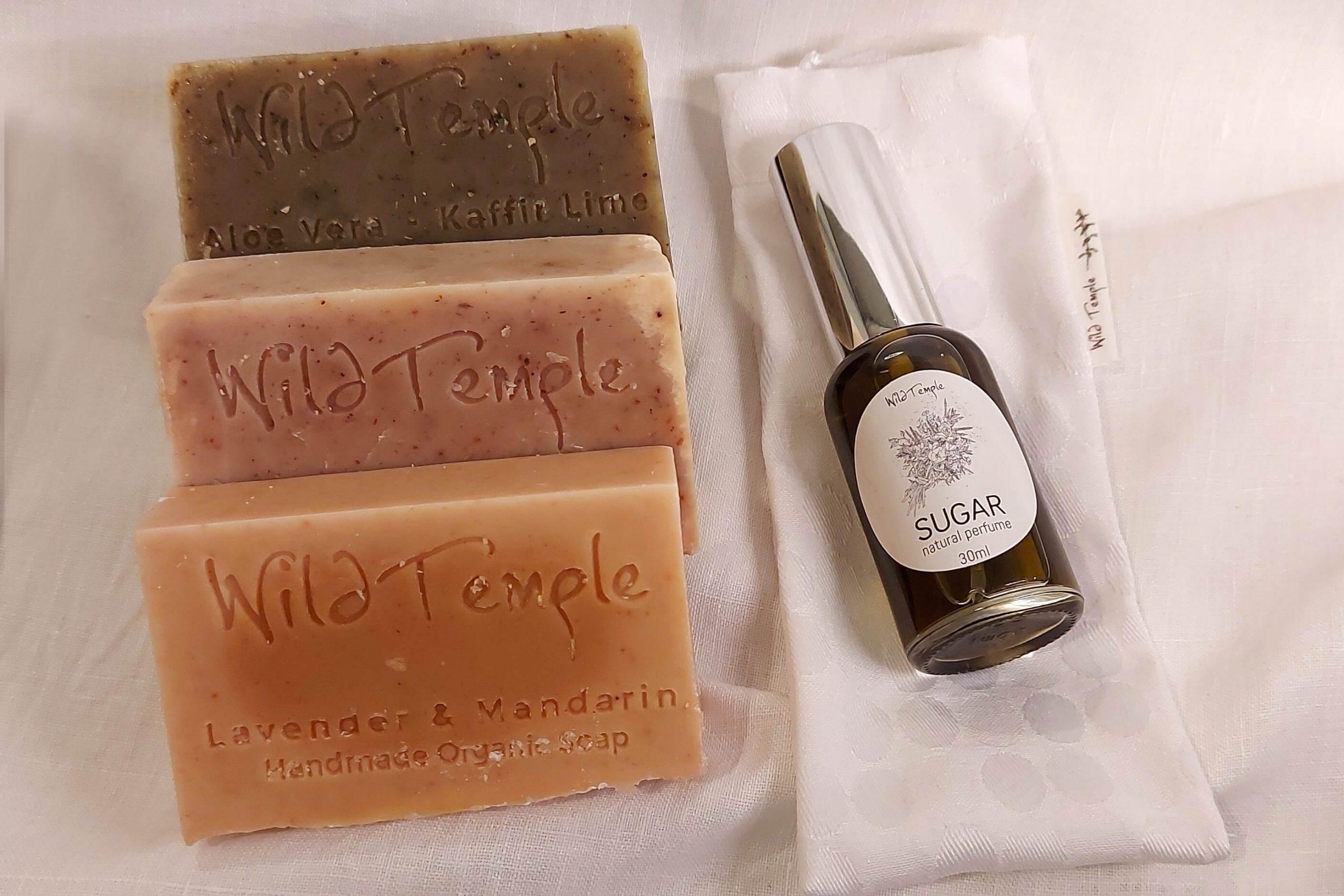Wild Temple Naturals Trio of Soap and Sugar Perfume
