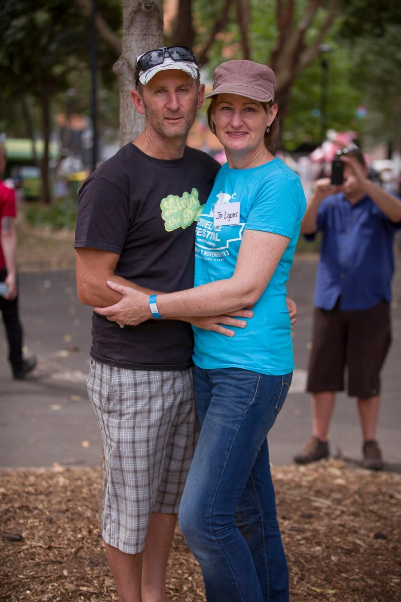 Neal and Jo - Photo by Jane Earle at the 2013 Sydney Cruelty Free Festival